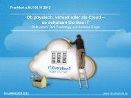 Ob physisch, virtuell oder als Cloud – so schützen Sie ... - COMPAREX
