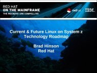 Current & Future Linux on System z Technology Roadmap ... - WAVV