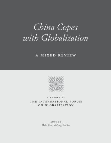 China Copes with Globalization: A Mixed Review - International ...
