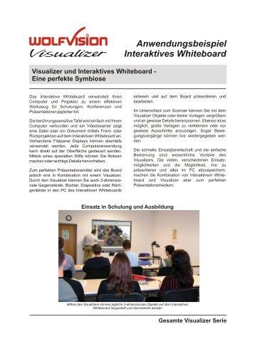 Anwendungsbeispiel Interaktives Whiteboard Visualizer ... - WolfVision