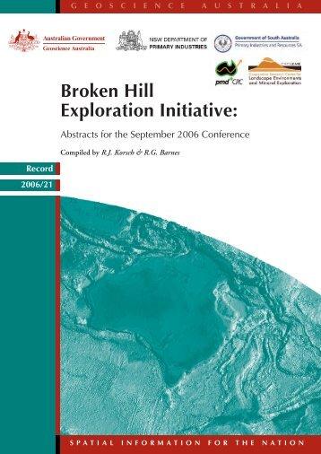 Broken Hill Exploration Initiative - Geoscience Australia