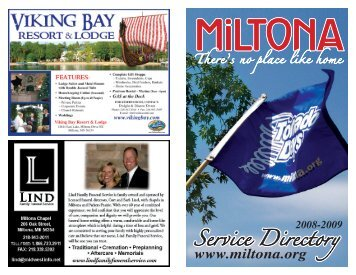 Team Miltona encourages growth for area businesses and promotes ...