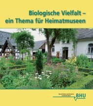 Heimatmuseen Inhalt.indd - UN Dekade Biologische Vielfalt