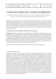 Luminescence dating: basics, methods and applications