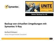 Backup von virtuellen Umgebungen mit Symantec V-Ray