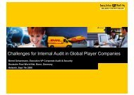 Challenges for Internal Audit in Global Player Companies - ECIIA