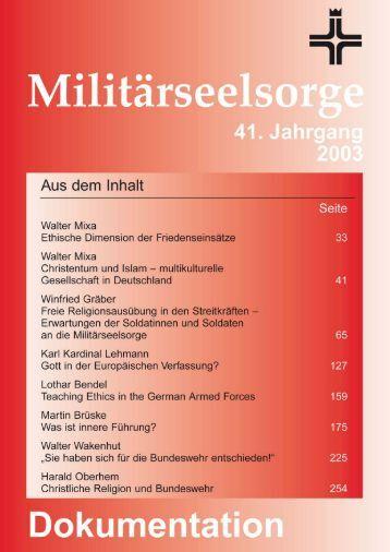 2003 - Dokumentation - Katholische Militärseelsorge