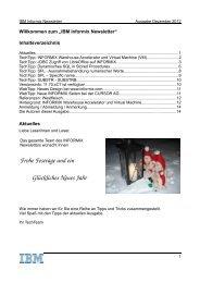 Frohe Festtage und ein Glückliches Neues Jahr - The Informix Zone