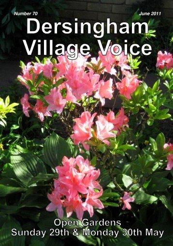 village voice 70.pub - Dersingham Parish Council