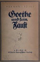 Goethe und sein Faust