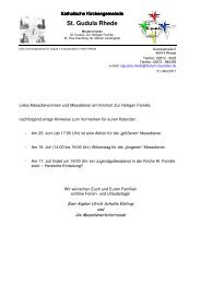 Messdienerplan ab 22. Juni 2011 - Pfarrgemeinde St.-Gudula