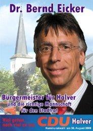 Dr. Bernd Eicker - CDU-Halver
