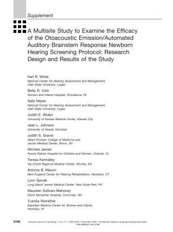 Supplement - American Journal of Audiology - American Speech ...