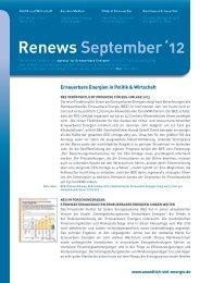 Renews September 2012 - Agentur für Erneuerbare Energien