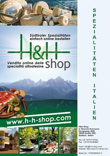 Katalog Spezialitäten Italien - H-h-shop