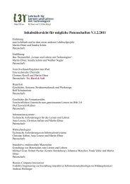 Inhaltsübersicht für mögliche Patenschaften V.1.2.2011 - L3T