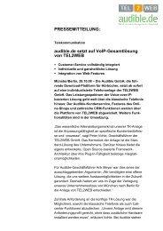 PM audible.de setzt auf VoIP-Gesamtlösung von ... - PresseBox
