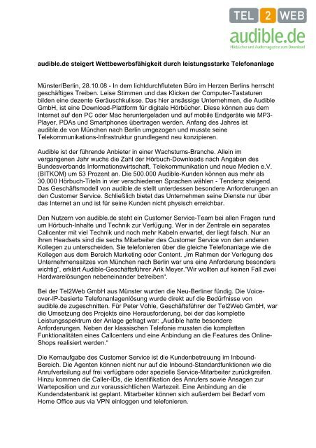 Case+Study+audible.de+-+TEL2WEB.pdf - PresseBox