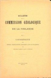 commission geologique de la finlande - arkisto.gsf.fi