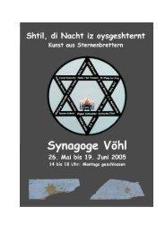 Katalog als pdf - Ehemalige Synagoge in Vöhl