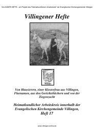 Villinger Hefte - VILLINGEN-ONLINE.de