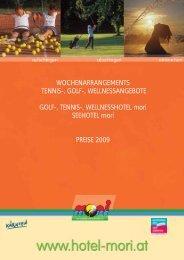 WIR KOMMEN! - Tennis Golf Wellnesshotel Mori