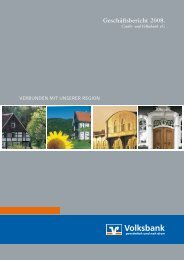 Geschäftsbericht 2008. - Volksbank