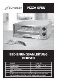 pizza ofen bedienungsanleitung - Superior