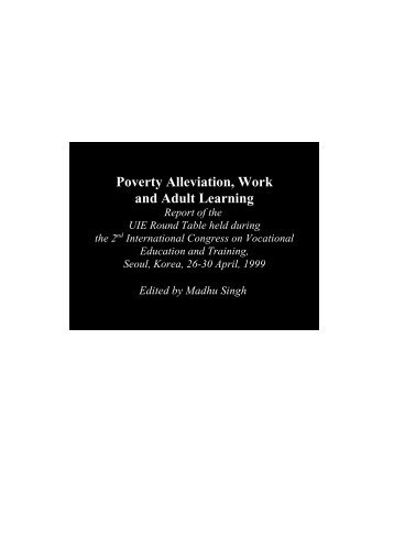 Poverty Alleviation, Work and Adult Learning - Unesco