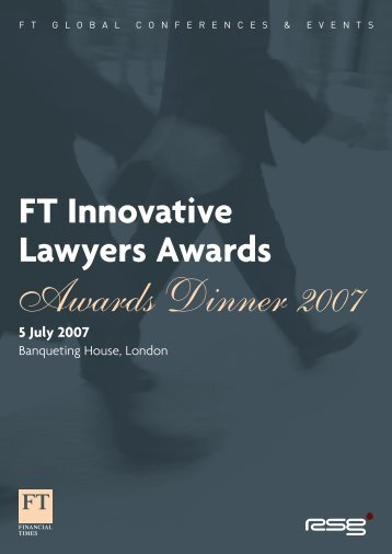 FT Innovative Lawyers Awards 5 July 2007 - FT Conferences