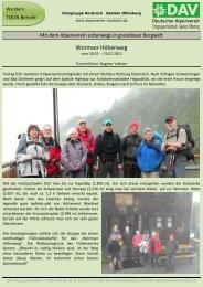 * Martin Huber ° Dorfstr - Alpenverein Nordrach