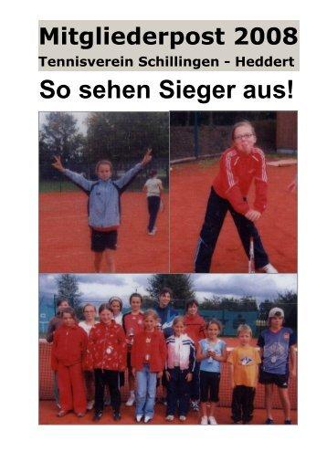 Vereinszeitung April 2008 - Tennisverein Schillingen- Heddert