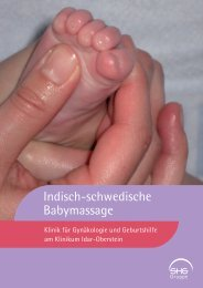 Indisch-schwedische Babymassage - Klinikum Idar-Oberstein