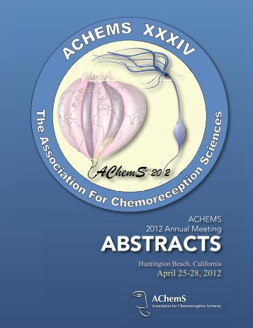 ABSTRACTS - Association for Chemoreception Sciences