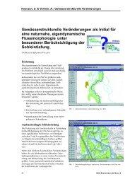 Gewässerstrukturelle Veränderungen als Initial für eine naturnahe ...
