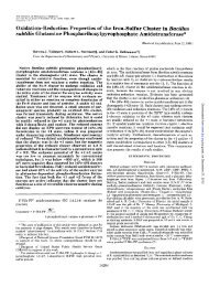 Oxidation-Reduction Properties of the Iron-Sulfur Cluster in Bacillus ...