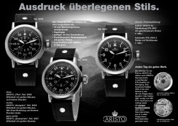 Ausdruck überlegenen Stils. - Aristo Vollmer GmbH