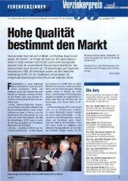 Hohe Qualität bestimmt den Markt - Institut Feuerverzinken GmbH
