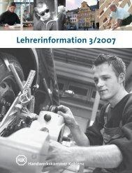 hwk Lehrerinformation 03-2007.indd - Handwerkskammer Koblenz