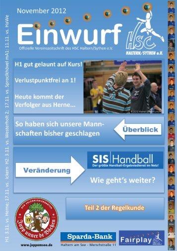HSC Magazin November 2012 - HSC Haltern-Sythen 1992 e. V.