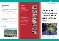 Information Technology and Automation in Jena/Germany