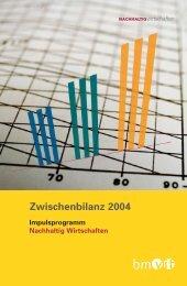 Zwischenbilanz 2004 (466.4 kB) - NachhaltigWirtschaften.at