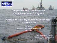 Deepwater Horizon Disaster Navy Response & Beyond American ...
