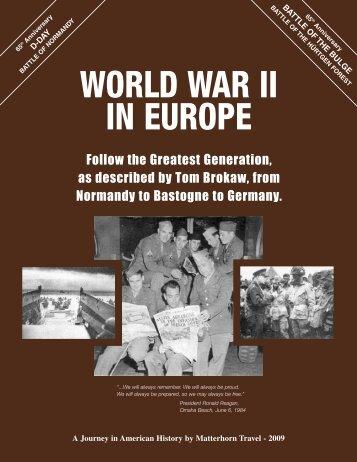 WORLD WAR II IN EUROPE - Maryland Historical Society