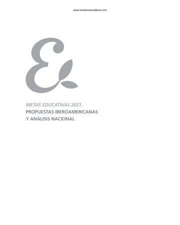 metas educativas 2021. propuestas iberoamericanas y análisis ...