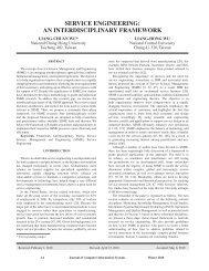 service engineering - International Association for Computer ...