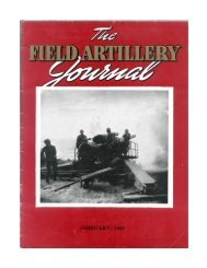 THE FIELD ARTILLERY JOURNAL - FEBRUARY 1945 - Fort Sill