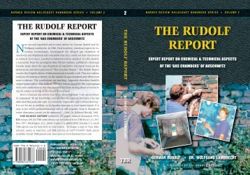 THE RUDOLF REPORT - Holocaust Handbooks