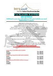 Pauschale Winter 2013 englisch - Bergwell Hotel Dorfschmiede