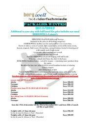 Pauschale Winter 2012 englisch - Bergwell Hotel Dorfschmiede